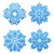 set of variation snowflakes isolated stock photo © smeagorl