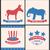 republikánus · elefánt · kabala · USA · zászló · illusztráció - stock fotó © smeagorl