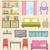 mobiliário · cozinha · conjunto · moderno · ilustração · casa - foto stock © smeagorl