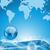 gota · de · água · gotículas · mundo · terra · globo · ilustração - foto stock © smeagorl