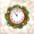 Рождества · венок · часы · иллюстрация · Новый · год · украшение - Сток-фото © smeagorl