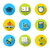 flat icons of elements and objects for high school and college e stock photo © smeagorl