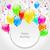 gelukkige · verjaardag · kaart · uitnodiging · ingesteld · grafisch · ontwerp - stockfoto © smeagorl