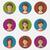 kleurrijk · mensen · gezichten · cirkel · modieus - stockfoto © smeagorl