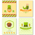 set greeting posters with traditional symbols for st patricks d stock photo © smeagorl