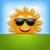 vrolijk · zon · cartoon · mascotte · karakter · zonnebril · teken - stockfoto © smeagorl