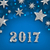 starry silver background for happy new year 2017 stock photo © smeagorl