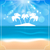 holiday summer card with beautiful beach and palms stock photo © smeagorl