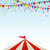 cartoon · circus · tent · vector · Blauw · witte - stockfoto © smeagorl