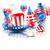 feliz · férias · balões · confete · férias · gráfico - foto stock © smeagorl