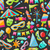 carnival seamless texture with colorful cirsus objects stock photo © smeagorl