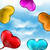 collection glossy hearts balloons for valentine day in the blue stock photo © smeagorl