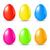 szett · szín · tojások · gyönyörű · fekete · kék - stock fotó © smeagorl