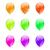 conjunto · colorido · balões · vetor · branco · festa - foto stock © smeagorl
