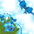 natal · azul · vítreo · arco · fita - foto stock © smeagorl