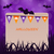 halloween party card with hanging flags stock photo © smeagorl
