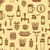 seamless pattern with icons of beers and snacks stock photo © smeagorl