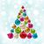 árvore · de · natal · estilizado · contorno · árvore - foto stock © smeagorl