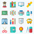 school colorful simple icons stock photo © smeagorl
