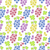 seamless pattern with colorful bunches of grape stock photo © smeagorl