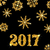 golden celebration card for happy new year 2017 stock photo © smeagorl