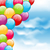 flying colourful balloons in blue sky stock photo © smeagorl