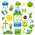 set of green ecology icons 2 stock photo © smeagorl