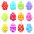 abstrato · colorido · ovos · conjunto · isolado · branco - foto stock © smeagorl