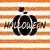 glitter orange wallpaper for happy halloween with pumpkin stock photo © smeagorl