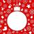 christmas paper hanging ball as a postcard stock photo © smeagorl