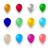cor · hélio · balão · conjunto · festa · evento - foto stock © smeagorl