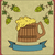 vintage card with wooden mug beer stock photo © smeagorl