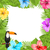夏 · 飾り · オウム · ベクトル · 草 · 自然 - ストックフォト © smeagorl