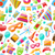 naadloos · confetti · partij · verschillend · gekleurd · party · time - stockfoto © smeagorl