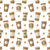 seamless pattern with disposable coffee cups stock photo © smeagorl