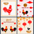 set banners with chinese new year roosters blossom sakura flowers lanterns stock photo © smeagorl