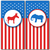 banners with donkey and elephant as a symbols vote of usa united states political parties stock photo © smeagorl