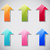 set colorful arrow advertise sticker stock photo © smeagorl
