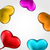colourful hearts balloons isolated on white background stock photo © smeagorl
