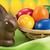 azzurro · giallo · verde · easter · eggs · basket · decorato - foto d'archivio © smileus