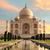 Taj · Mahal · coucher · du · soleil · Inde · indian · symbole · Voyage - photo stock © smileus