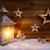 Рождества · фонарь · украшения · снега · серебро · небе - Сток-фото © smileus