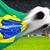 サッカーボール · ブラジル · フラグ · ピッチ · サッカー · ホスト - ストックフォト © smileus