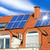 solar panel on a red roof stock photo © smileus