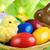 színes · húsvéti · tojás · gyertyák · közelkép · három · alakú - stock fotó © smileus