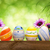 easter eggs flowers and bokeh background stock photo © smileus