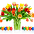 colorful bouquet of tulips in a vase stock photo © smileus