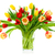 perfect bouquet of tulips in a vase stock photo © smileus