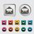 bejövő · üzenetek · ikon · fehér · kék · nyíl · tárgy - stock fotó © smoki