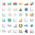 torta · lineare · grafico · documento · icona · line - foto d'archivio © smoki